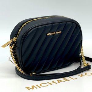 Michael Kors Small Oval Camera Xbody Bag Black
